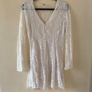 Free People White Lace Dress